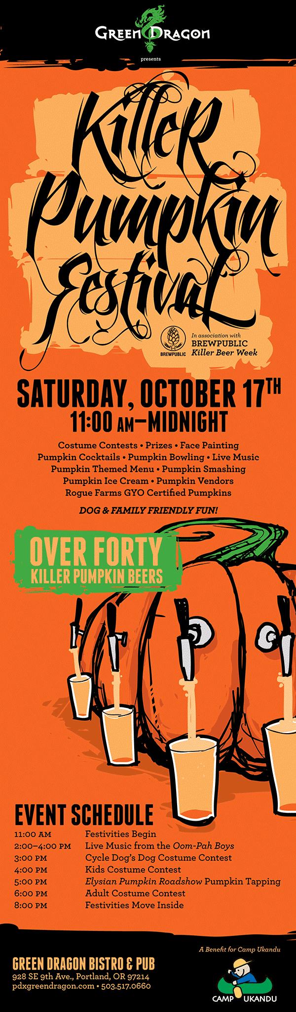 Killer Beer Week - Killer Pumpkin Fest Poster 2015