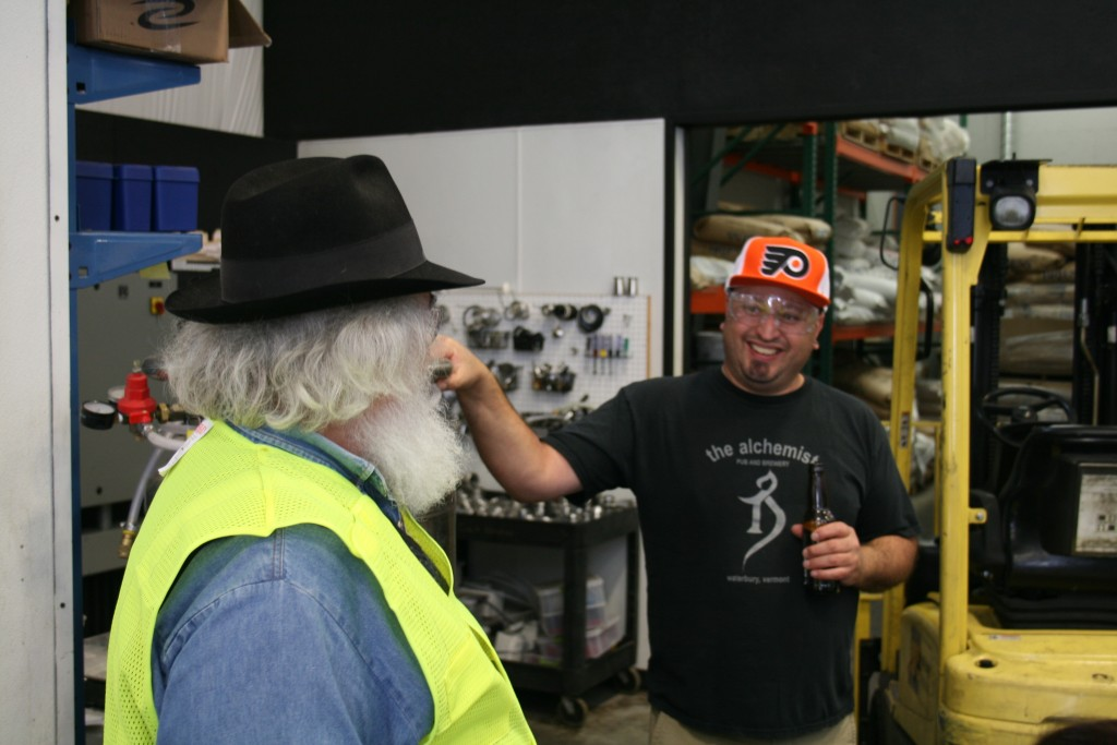 Longtime Beer Writer Alan Moen (left) and Jimmy Seifrit at 10 Barrel Brewing