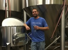 Matt Van Wyk at his soon to be former brewery. (photo by Cat Stelzer)