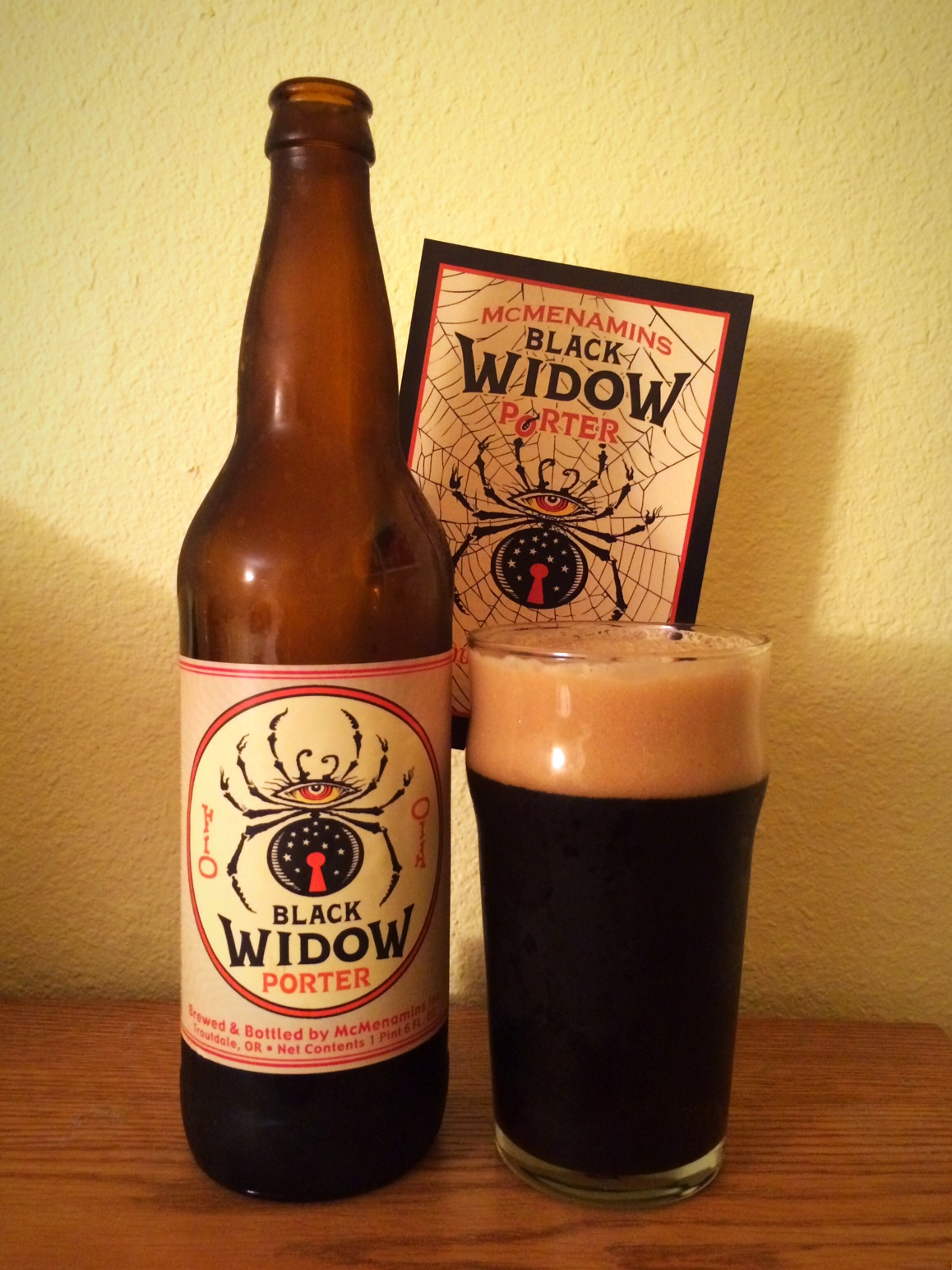 McMenamins Black Widow Porter (photo by D.J. Paul)