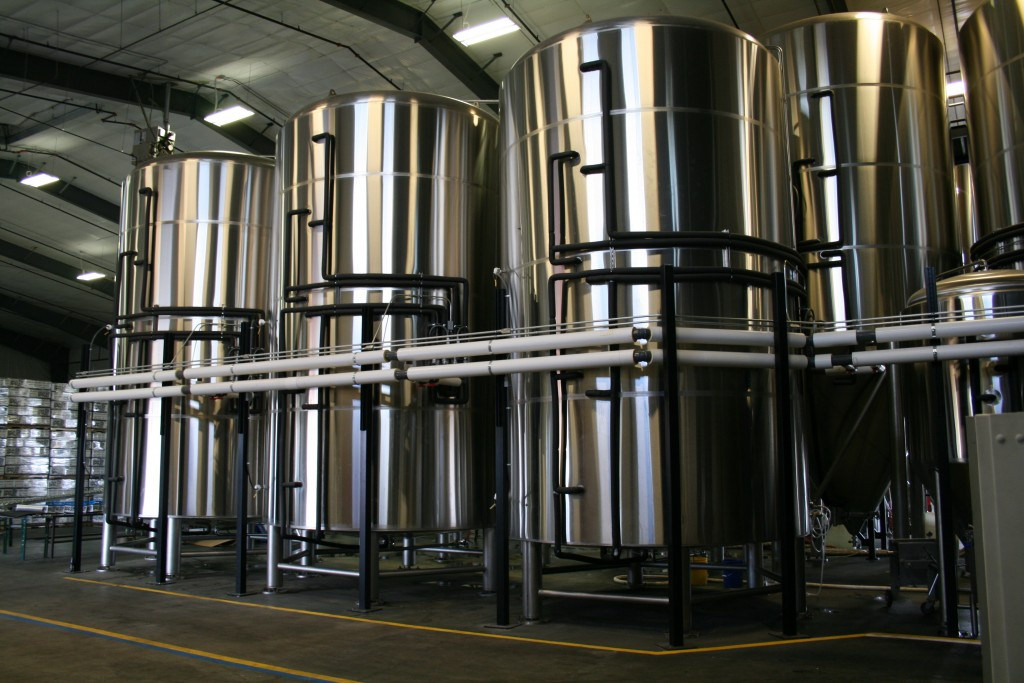 Newer tanks at 10 Barrel Brewing