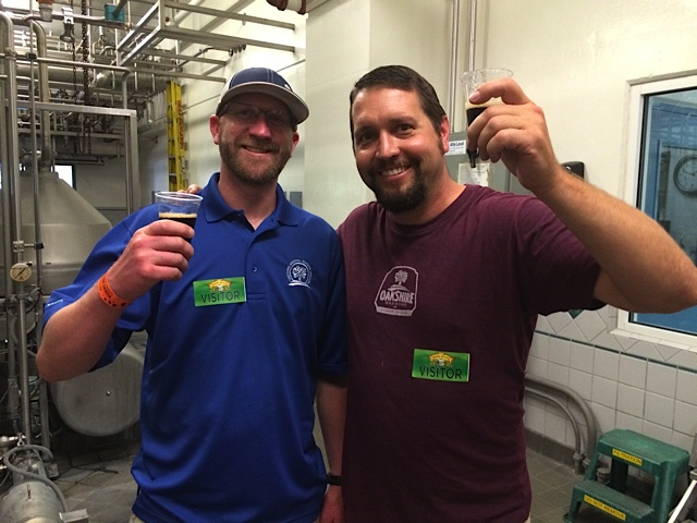 Oakshire Brewing's New Brewmaster Tyler West (left) and new AleSong Brewmaster Matt Van Wyk (photo by D.J. Paul)