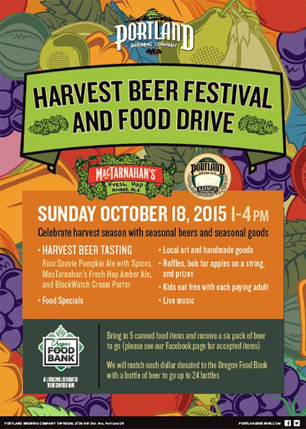 Portland Brewing‎ Harvest Beer Fest and Food Drive