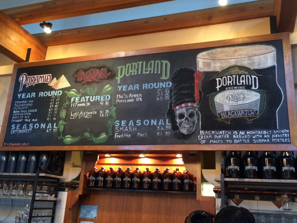 Portland Brewing Co. BlackWatch Menu Board