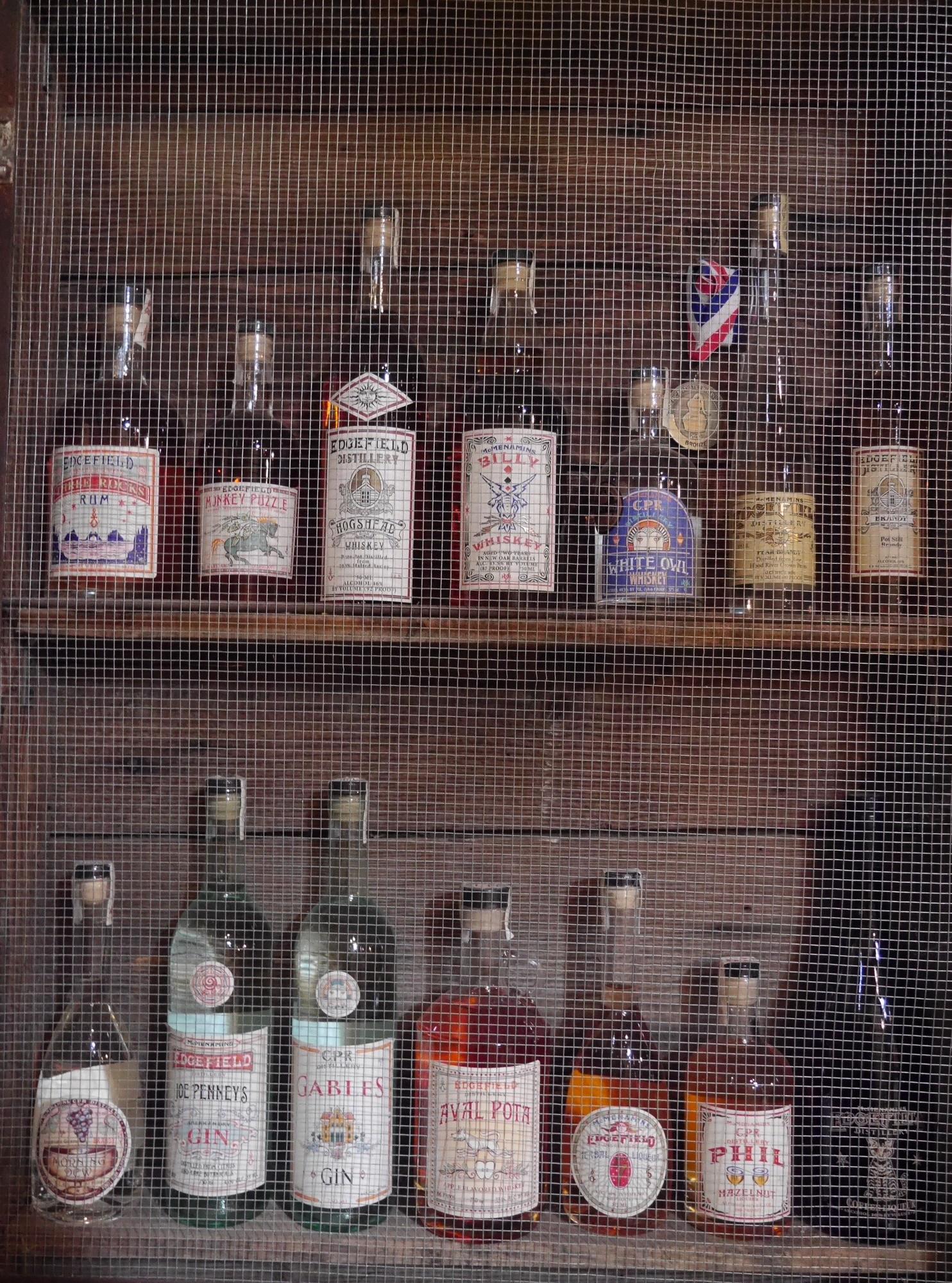 Spirits from Cornelius Pass Roadhouse (photo by Cat Stelzer)