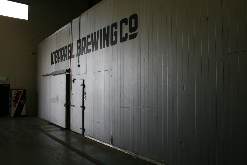 Swill Vending Machine an Walk In Cold Storage at 10 Barrel Brewing