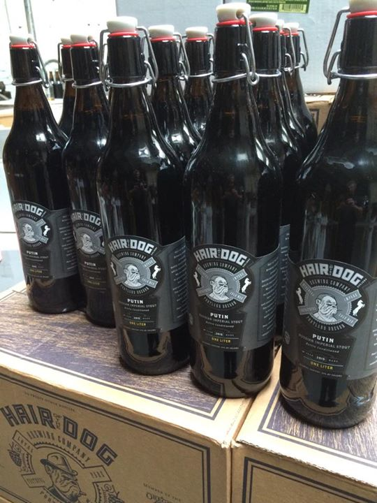 Bottles of Putin, Hair of the Dog's new bourbon-barrel-aged Russian Imperial Stout, will be available for purchase beginning Saturday at the brewery, 66 S.E. Water Ave. credit: Hair of the Dog.