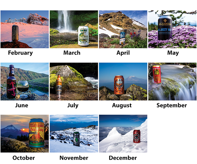 2016 Oregon Beer Calendar Back Cover by Matt Mioduszewski