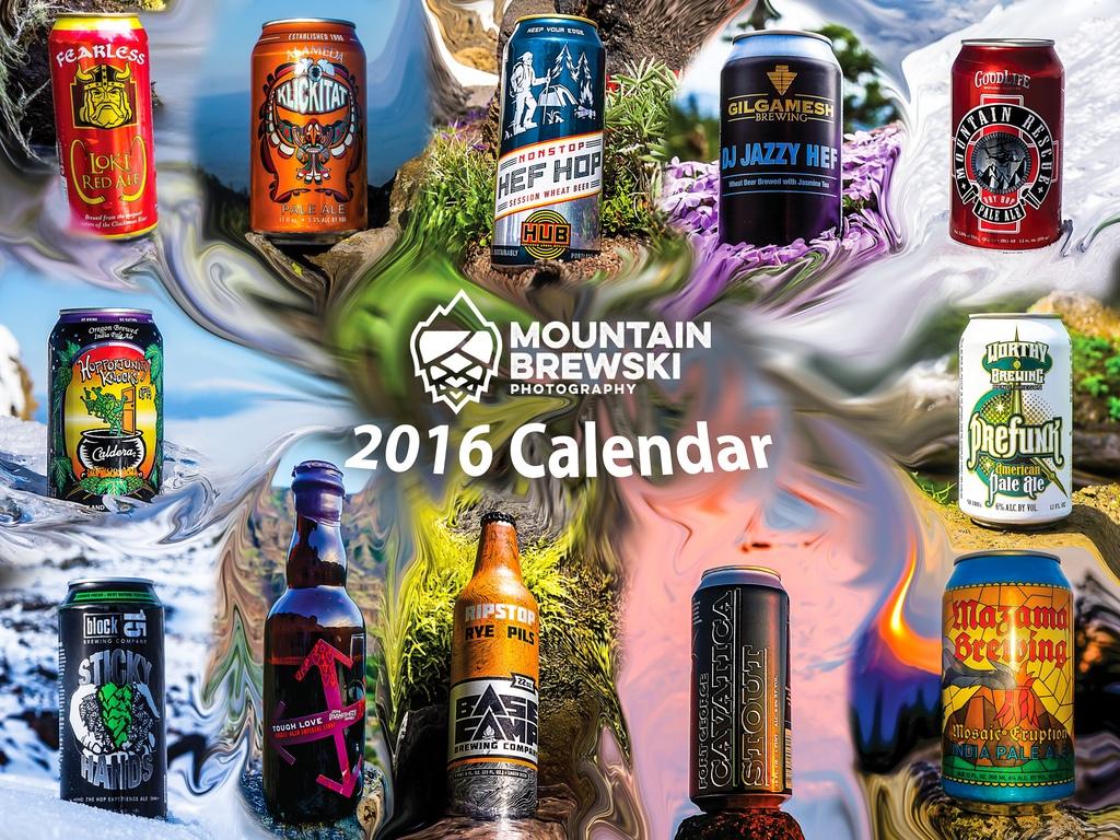 2016 Oregon Beer Calendar by Matt Mioduszewski