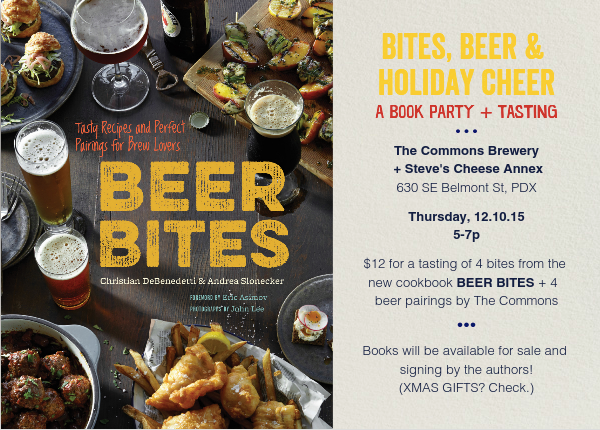 BEER BITES‎ Bites, Beer & Holiday Cheer—A Book Party + Tasting