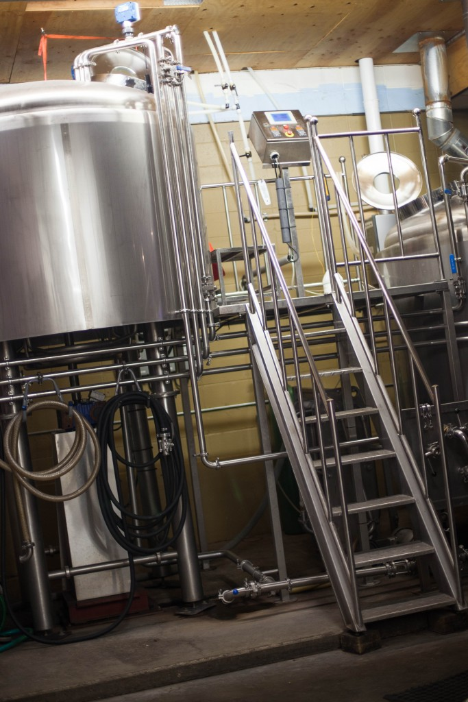 Backwoods Brewing Brew System (photo courtesy of Backwoods Brewing)