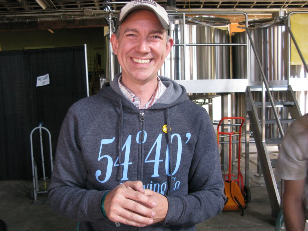 Bolt Minister debuted his new 54/40 beers at Willamette Week's recent Pro-Am Beer Fest. FoystonFoto