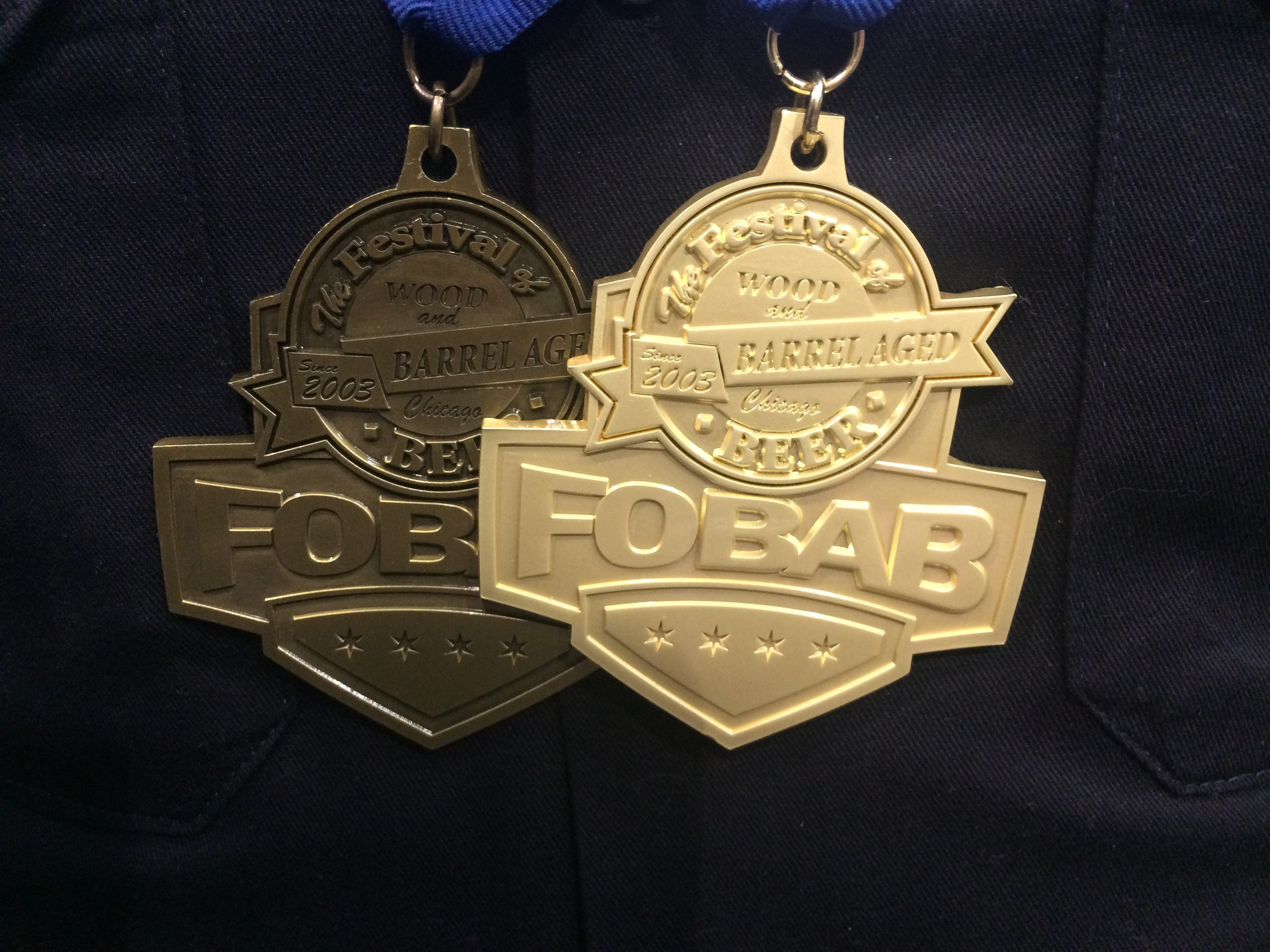 Gigantic Gold Medal (left) and Best in Show (right) at 2015 FoBAB