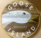 Goose Island Staviary Wood Sign at Goose Island Barrel Warehouse