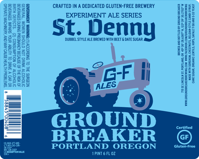 Ground Breaker Brewing St. Denny Dubbel Style Ale