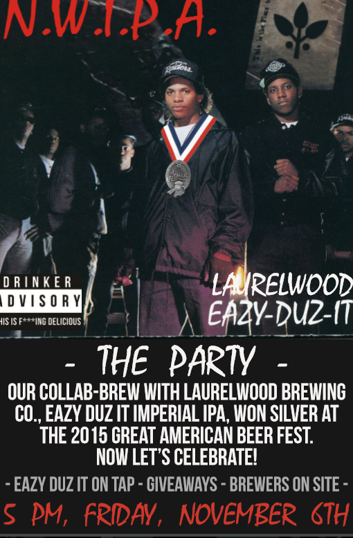 Laurelwood Brewing Easy-Duz-It Imperial IPA Release at N.W.I.P.A.
