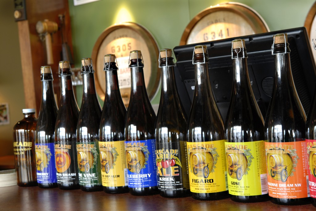 Lineup of Cascade Brewing Bottles (photo courtesy of Cascade Brewing)