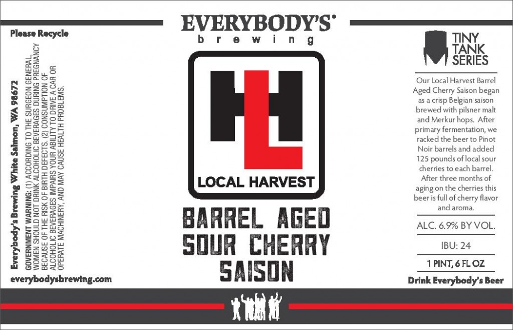 Everybody's Brewing Local Harvest-Barrell Aged Sour Cherry Saison