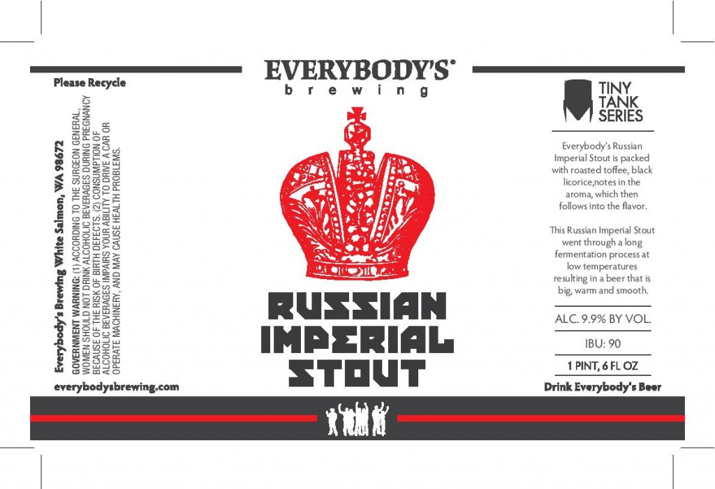 Everybody's Brewing Local Harvest-Russian Imperial Stout