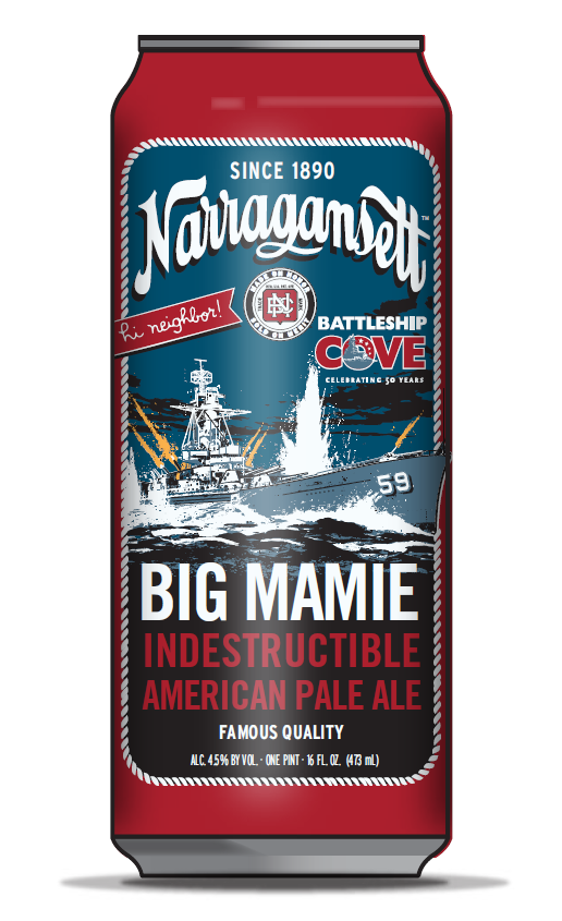 Narragansett Beer Big Mamie Indestructible American Pale Ale