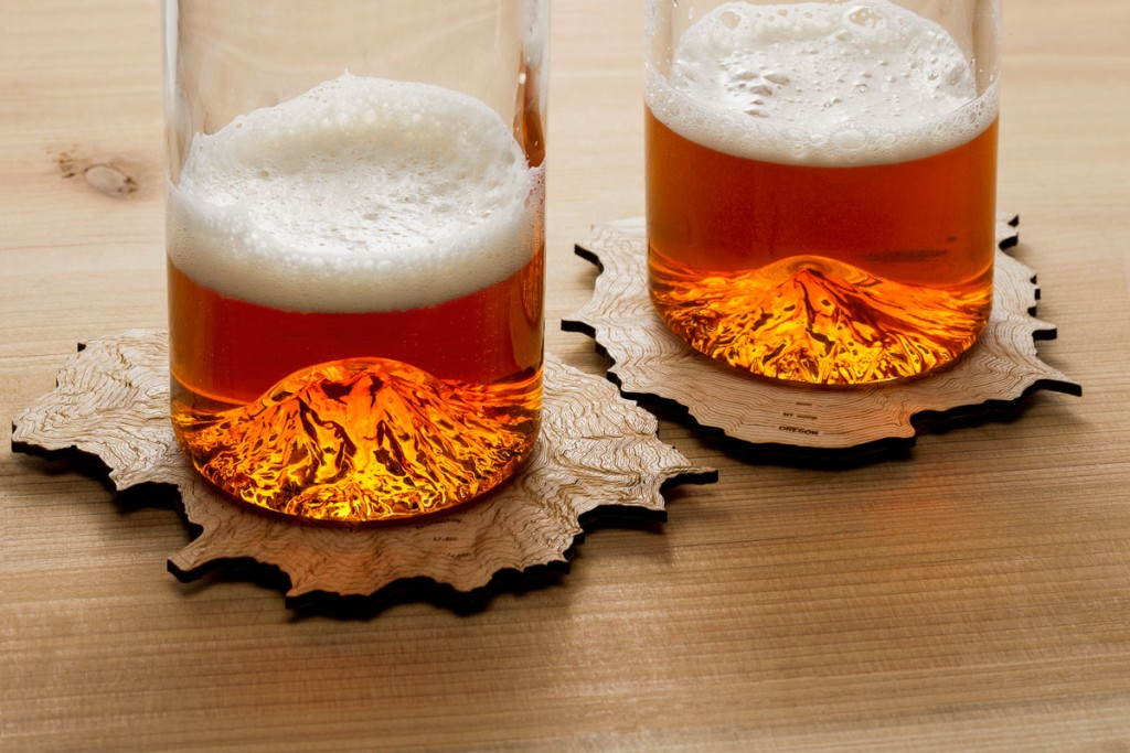 North Drinkware shows both pints and coasters. (photo courtesy of North Drinkware)