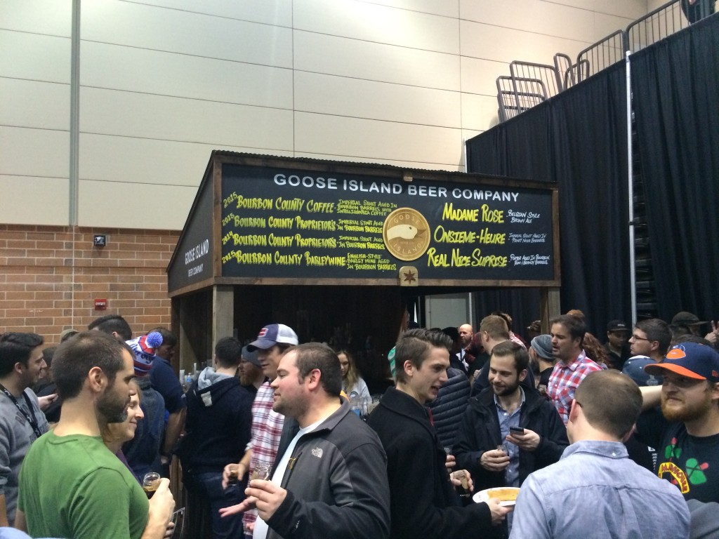 One of two Goose Island Booths at 2015 FoBAB that continuously had the longest lines.