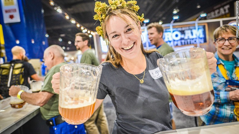 This GABF server does make you wish they all could be Colorado girls, he said respectfully... credit: CNN