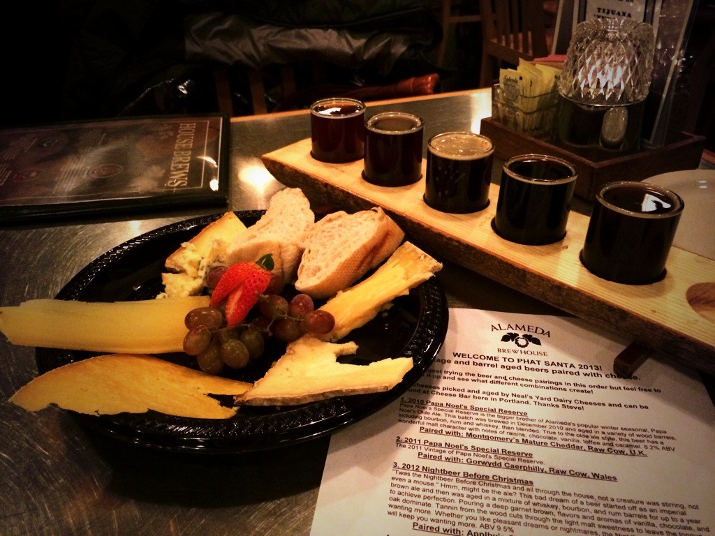 Alameda Brewing Phat Santa Beer & Cheese Pairing