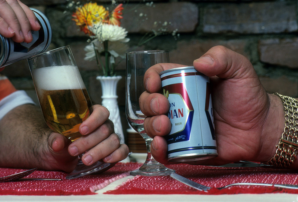 Andre the Giant and a can of Molson (photo credit Sports Illustrated, Getty Images)