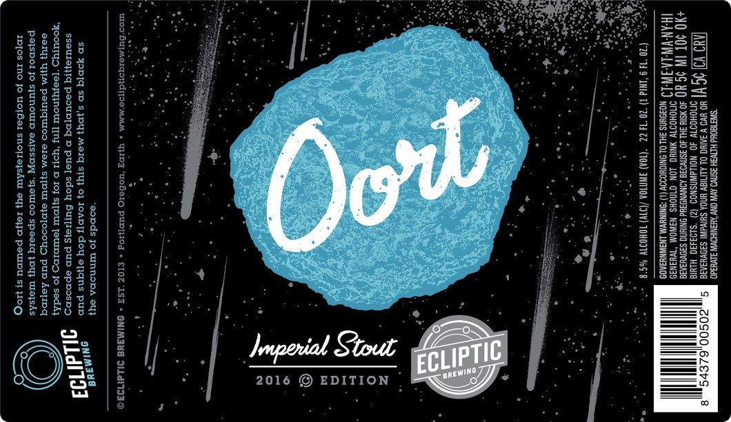 Ecliptic Brewing Oort Imperial Stout Label