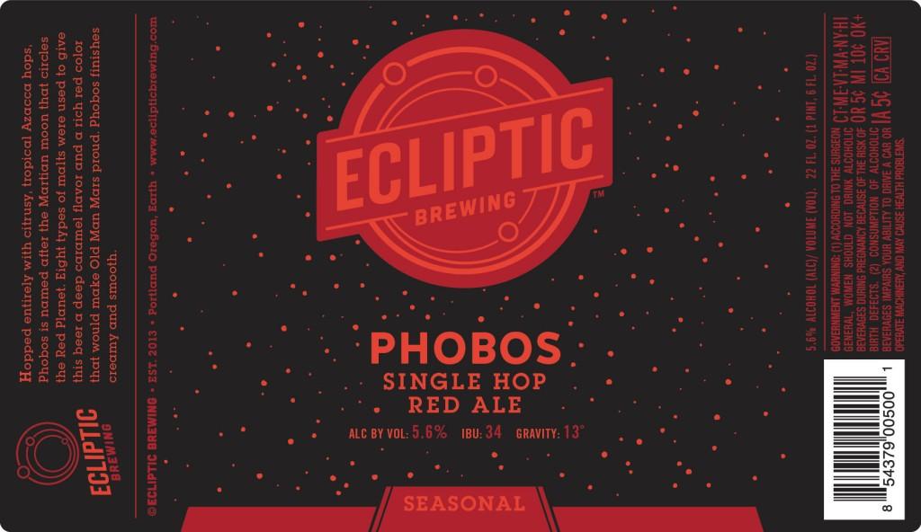 Ecliptic Brewing Phobos Single Hop Red Ale