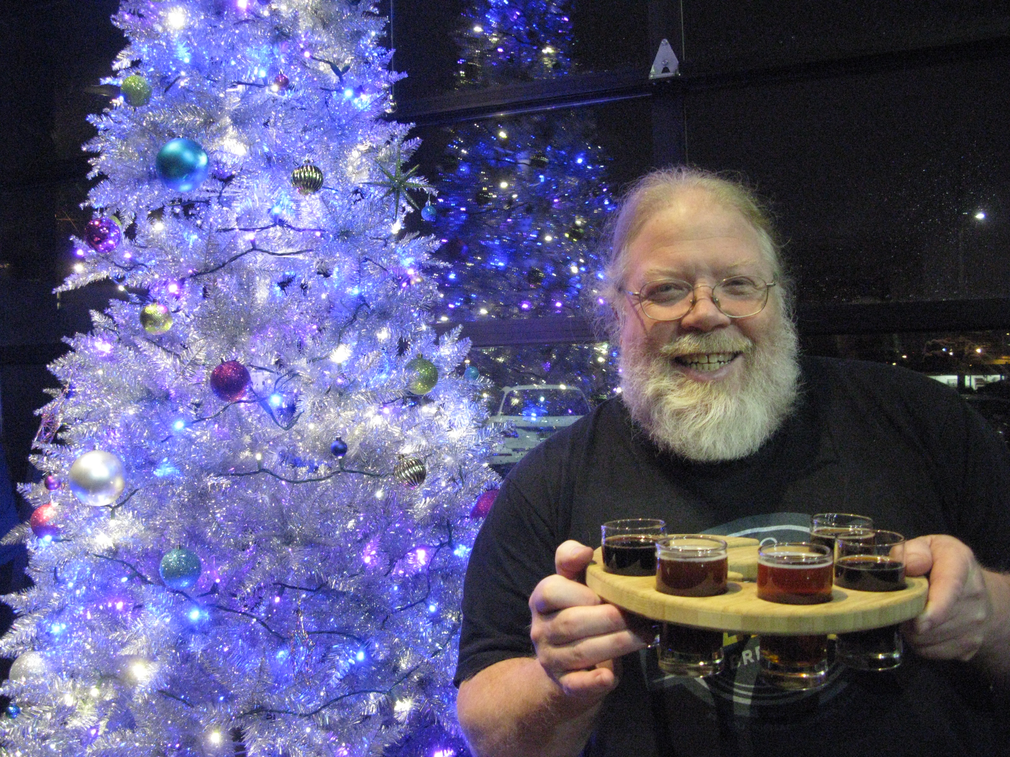 He's in the proper holiday mood, is Oregon brewing legend John Harris, and he's got some great beers to share. FoystonFoto