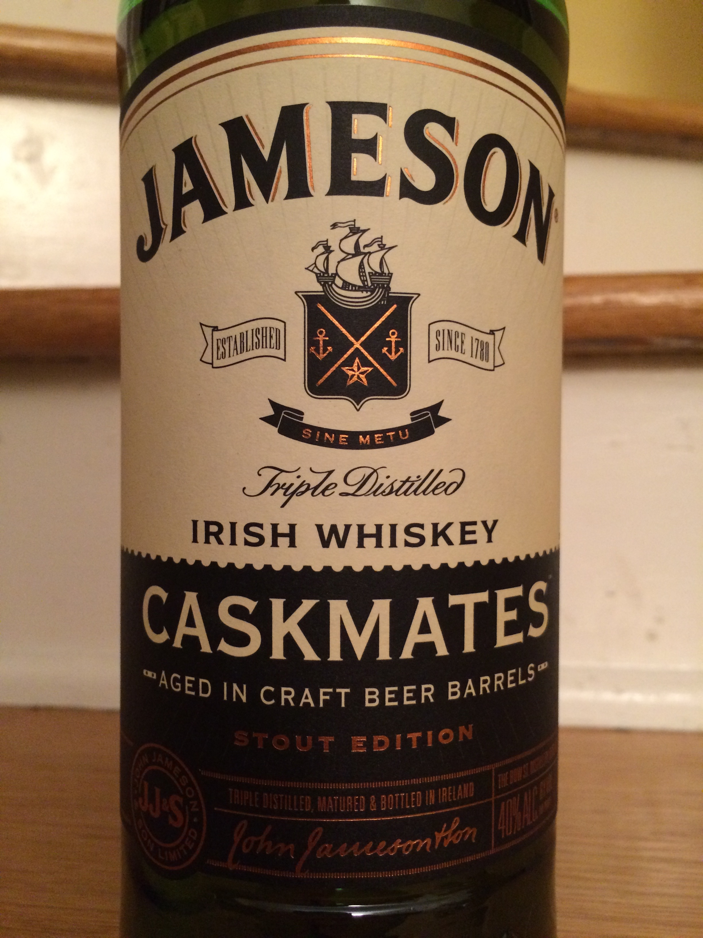 Jameson Caskmates Sout Edition Label Closeup
