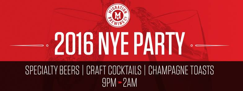 Migration Brewing 2016 NYE Party