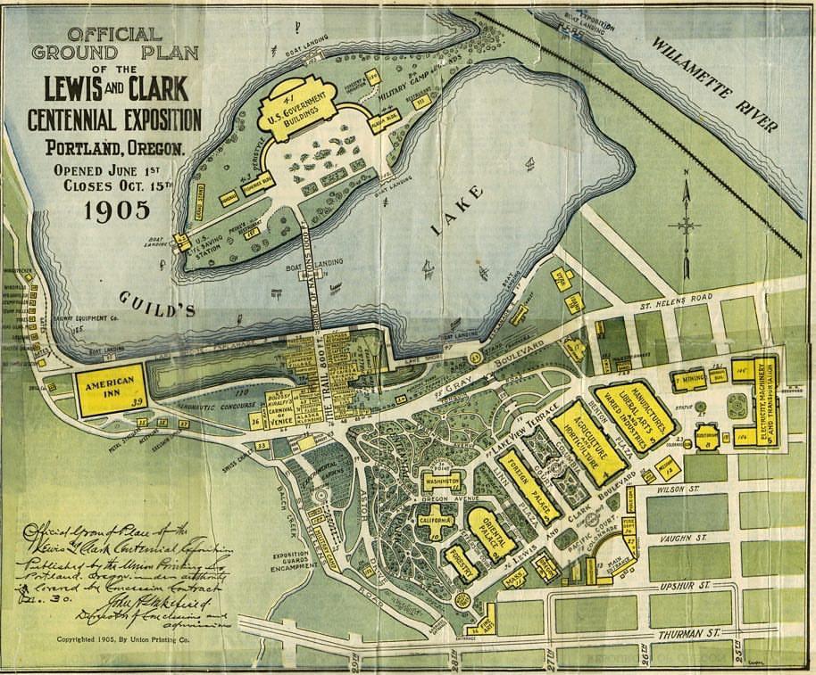 NW Portland Industrial Area - Lewis & Clark Centennial Exposition 1905
