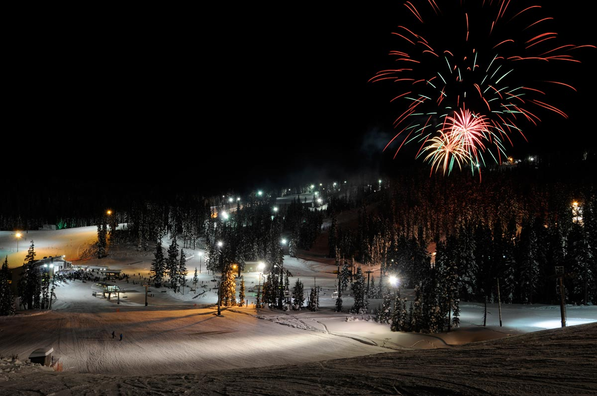 New Year's Eve Fireworks (photo courtesy of Mt. Hood Meadows)