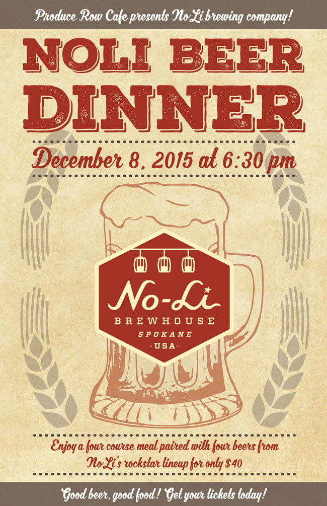 No-Li Brewhouse Beer Dinner at Produce Row Cafe
