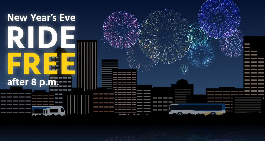 TriMet New Year's Eve Ride Free after 8pm