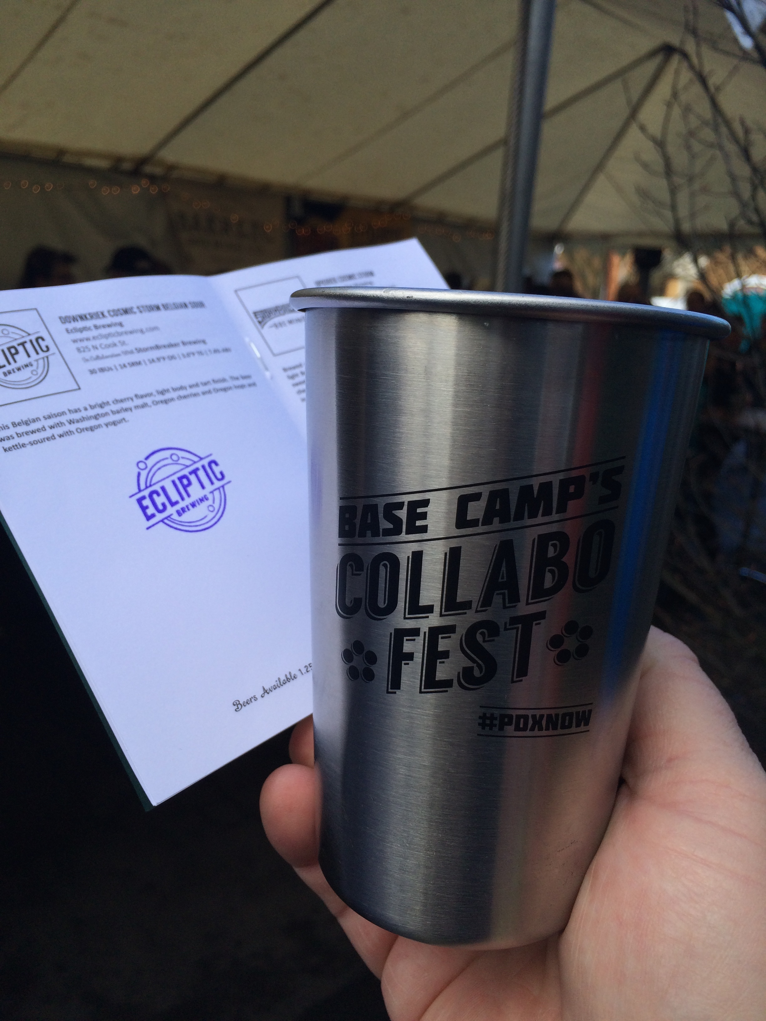 VIP Cup and Passport at 2015 #PDXNOW Base Camp Collabofest