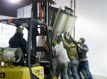 Hard to believe, but just five years ago, the Burnside Brewing crew was helping the Metalcraft Fabrication guys install the new brewhouse, which comprised Metalcraft's first commercial tanks. They've both come a long way since then and each is an integral part of Portland's craft beer scene. They're celebrating Burnside's fifth anniversary at the brewery (701 E. Burnside St,) starting at 3 p.m. Saturday Dec. 26, by roasting a pig and serving it five ways to pair with five variations – one from each brewer – of a golden rye ale brewed specially for the party. Get there early and you get a free commemorative glass while 250 last... FoystonFoto