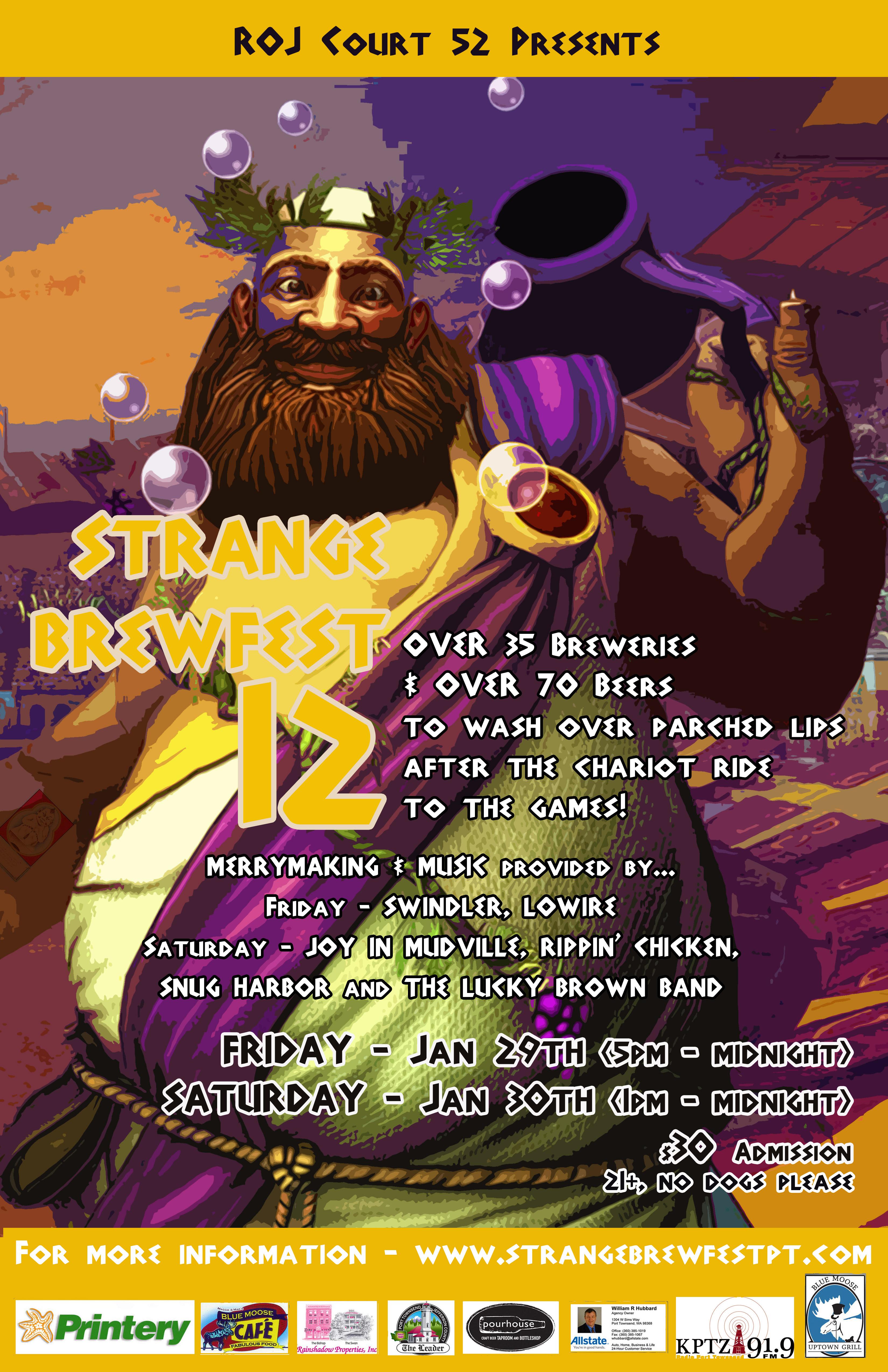 2016 Strange Brewfest Poster