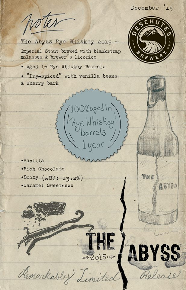 Deschutes The Abyss Rye Whiskey 2015