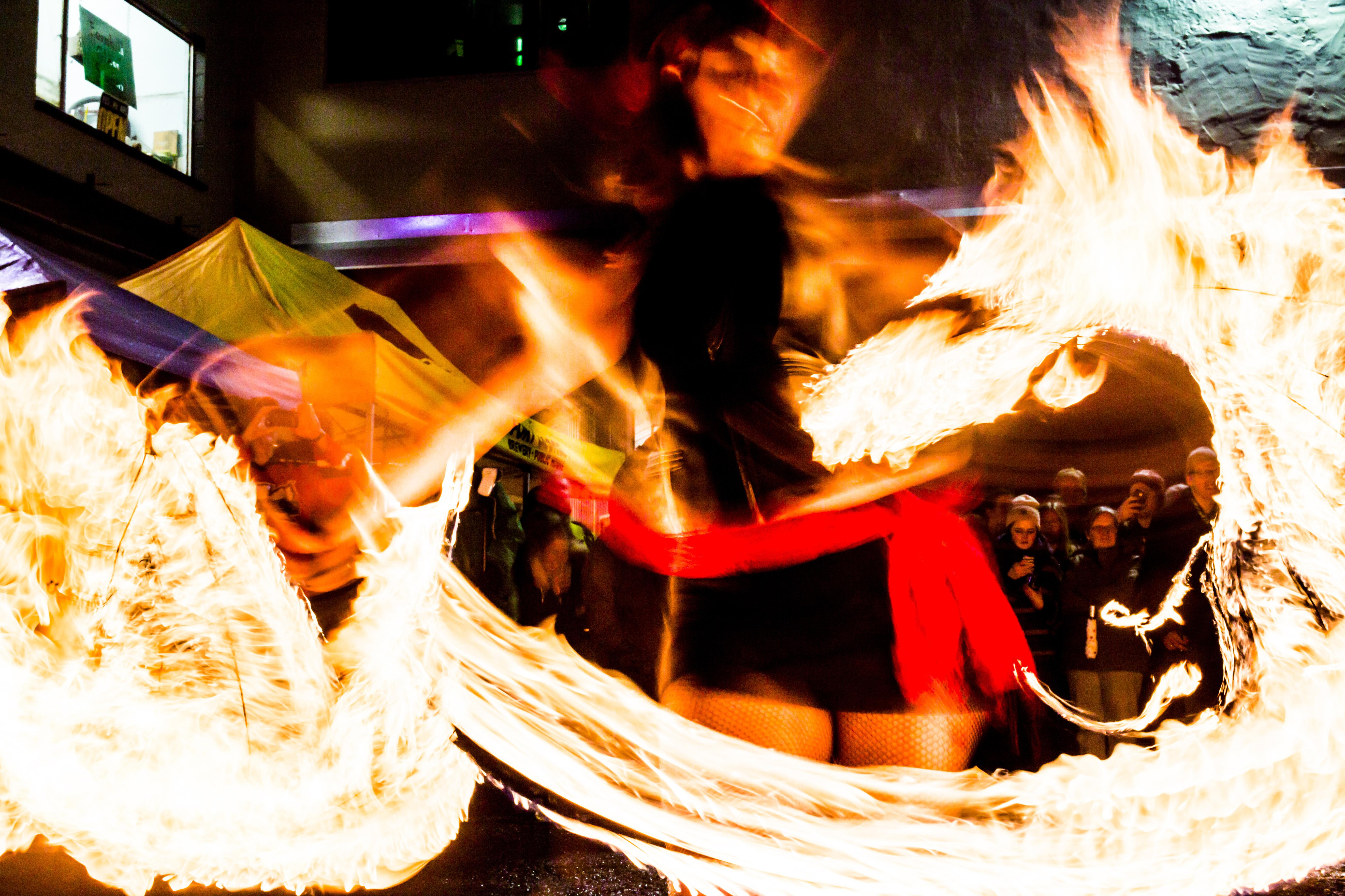 Festival of Dark Arts 2014 Fire Dancers (image courtesy of Fort George Brewery)