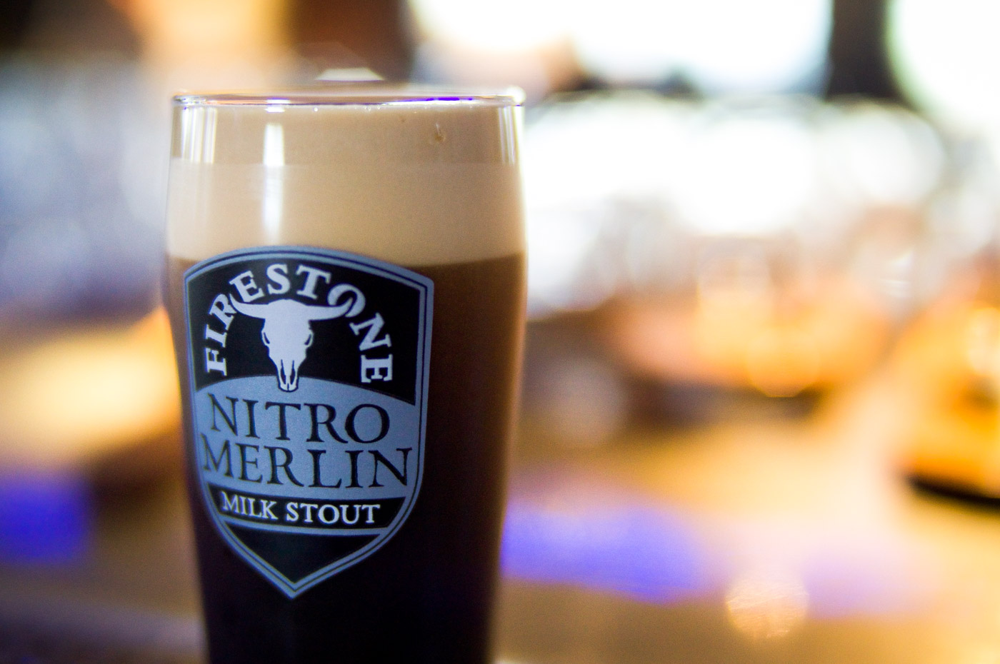 Firestone Walker Nitro Merlin Milk Stout Foam (photo courtesy of Firestone Walker)