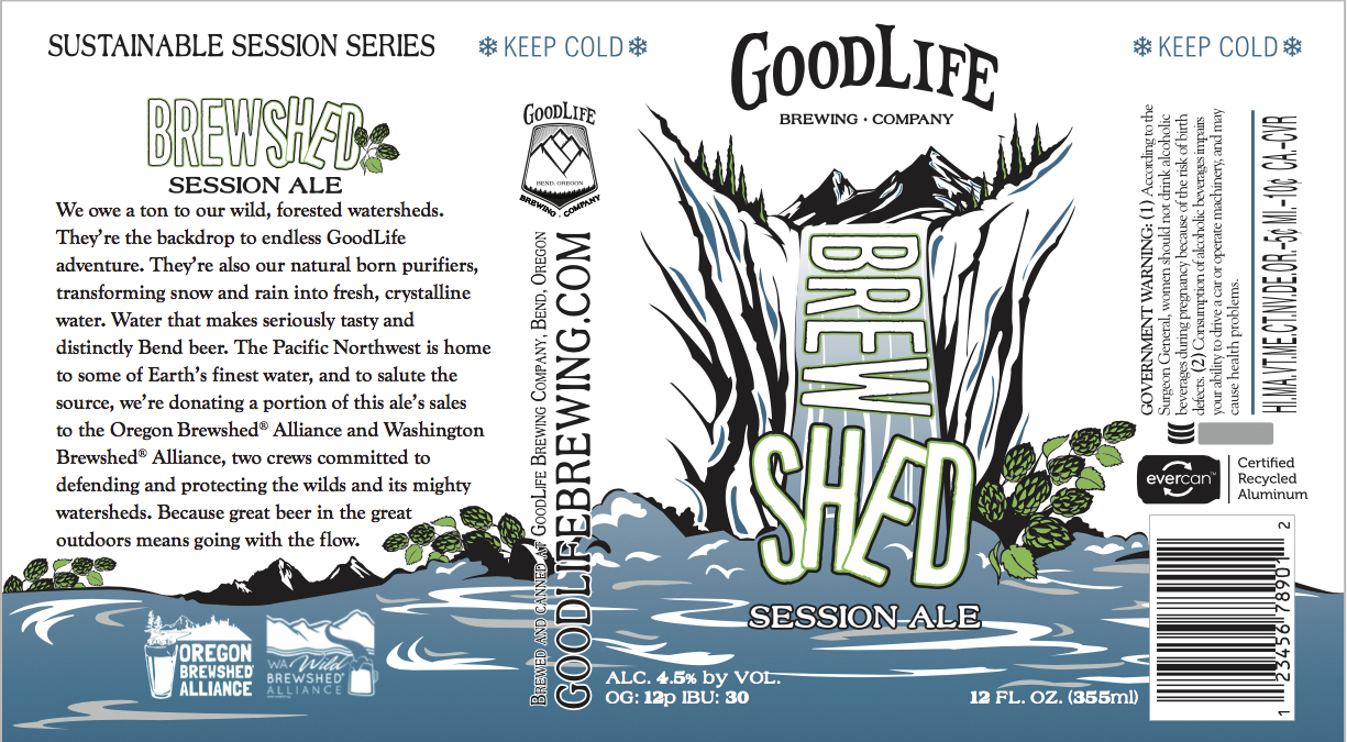 GoodLife Brewing Brewshed® Session Ale Can Label