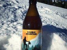 Gypsy Stumper IPA on Mt. Hood (image courtesy of Double Mountain Brewery)