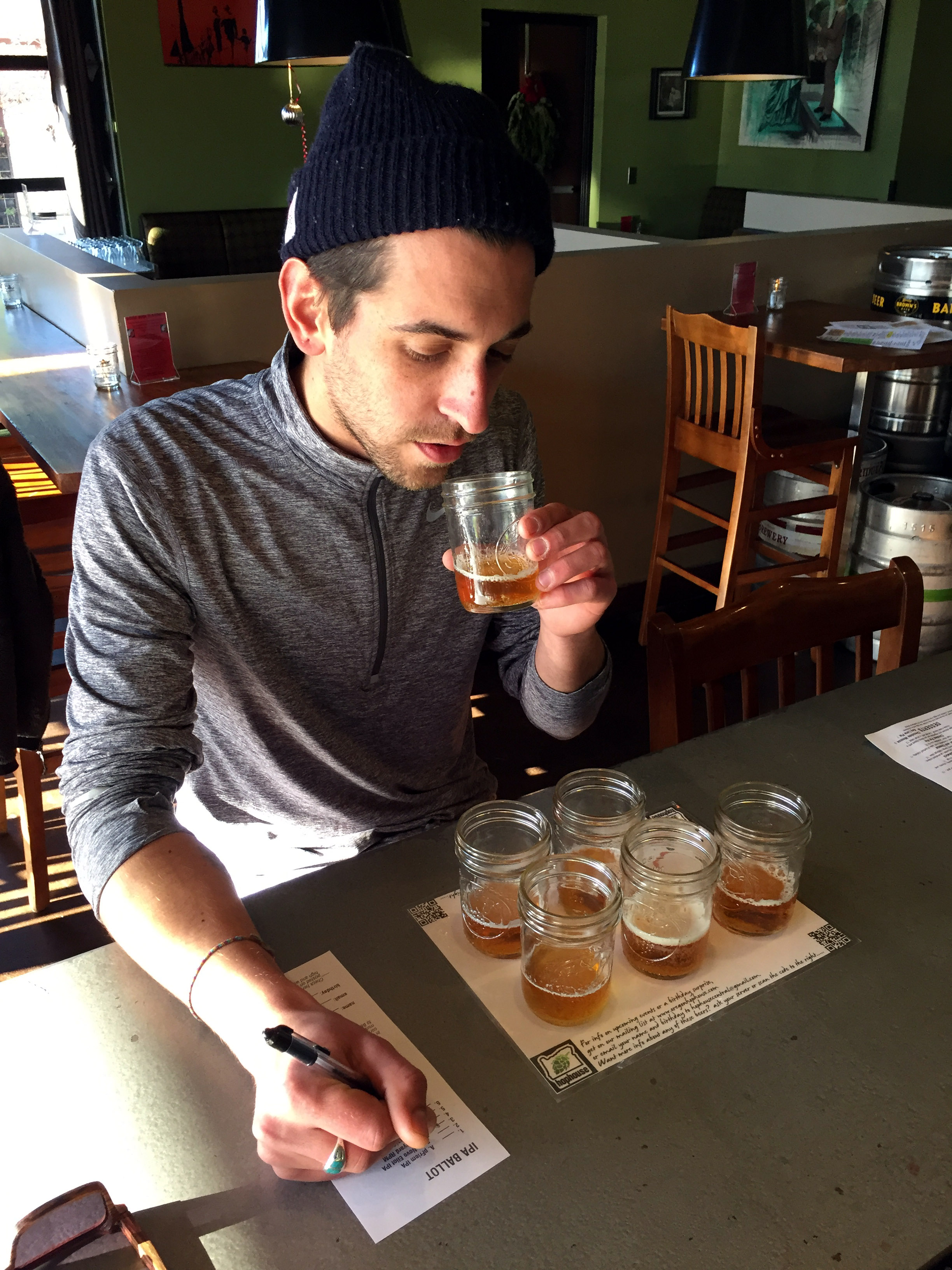 January IPA Blind Tasting Challenge (photo courtesy of Oregon Hophouse)