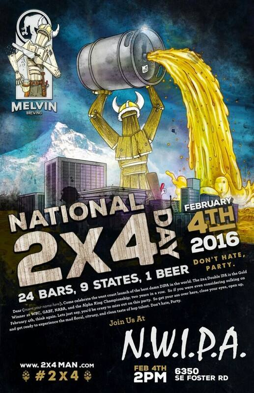 Melvin Brewing's 2x4 DIPA National Release at NWIPA