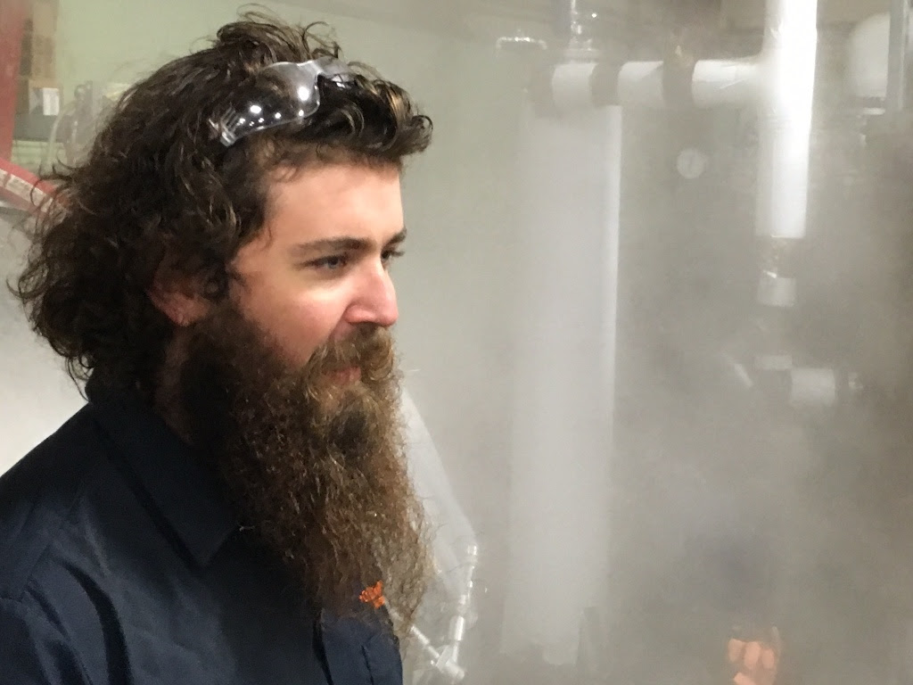 Ordnance Brewing Head Brewer, Logan Mayfield (photo courtesy of Ordnance Brewing)