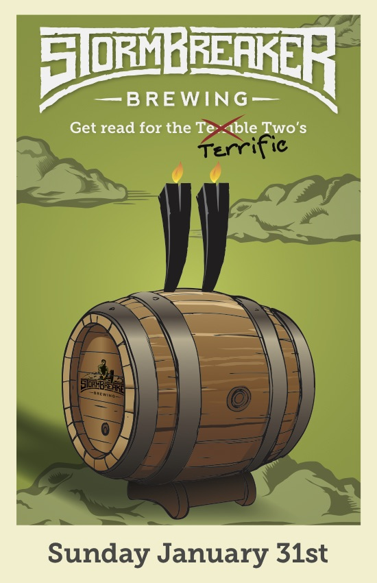 StormBreaker Brewing 2nd Anniversary Poster